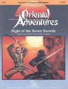 OA2 Night of the Seven Swords (1e)