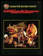 2nd Edition AD&D Character Record Sheets