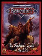 RS1 [RR6] Van Richten's Guide to the Lich (2e)