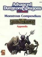 MC3 Monstrous Compendium Forgotten Realms Appendix (2e)