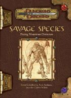Savage Species (3e)