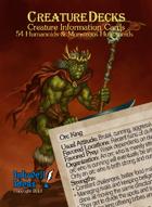 Creature Decks: Humanoids & Monstrous Humanoids (Ecologies/System Neutral)