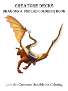 Dragons & Undead Coloring Book