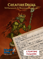Creature Decks 3.75/PF RPG: Humanoids & Monstrous Humanoids