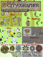 Cityographer Fantasy City Map Icons (Any Editor)