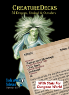 Creature Decks: Dungeon World RPG Dragons, Undead & Outsiders