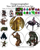 Dungeonographer November 2015 Monthly Map Icons (Any Editor)