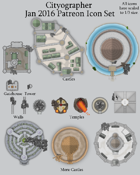 Cityographer January 2016 Monthly City Map Icons (Any Editor)
