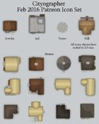 Cityographer February 2016 Monthly City Map Icons (Any Editor)