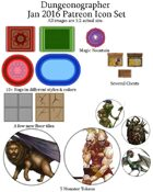 Dungeonographer January 2016 Monthly Map Icons (Any Editor)