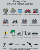 Hexographer February 2016 Monthly World Map Icons (Any Editor)