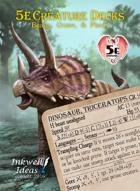5e Creature Decks: Beasts, Oozes, & Plants