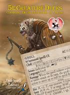 5e Creature Decks: Constructs, Giants, Humanoids, Undead