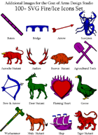 Coat of Arms Fire/Ice Symbols