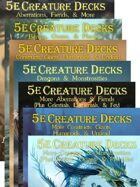 5e Creature Decks (PDFs & Printed Decks) [BUNDLE]