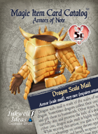 Magic Item Card Catalog: Armors of Note
