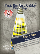 Magic Item Card Catalog: Potions & Rings