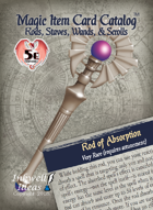 Magic Item Card Catalog: Rods, Staves, Wands, & Scrolls