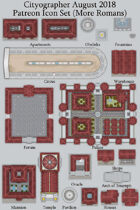 Cityographer Roman (More) City Map Icons (Any Editor)