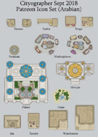 Cityographer Arabian City Map Icons (Any Editor)
