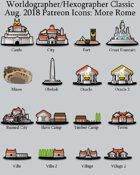 Hex/Worldographer Classic Style Roman (More) World Map Icons