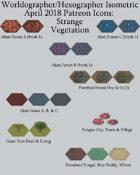 Worldographer Isometric Style Strange Vegetation World Map Icons
