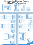 City/Village Blue-line Map Icons (Any Editor)