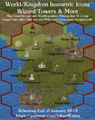 Worldographer Isometric Style Wizard Tower World Map Icons