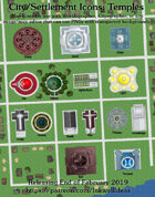 Cityographer Cleric Temples City Map Icons (Any Editor)