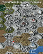 Worldographer Isometric Style Cleric Temples  World Map Icons