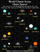 Hex/Worldographer Classic Style Outer Space World Map Icons