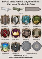 City/Village Symbols & Gates Map Icons (Any Editor)