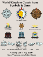 Hex/Worldographer Classic Style Symbols & Gates World Map Icons
