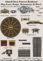 Dungeon/Battlemat Keeps & Monasteries Map Icons (Any Editor)