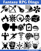 Fantasy RPG Dings Font