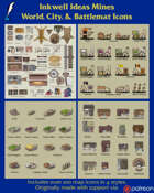 Worldographer Shops & More Battlemat, Settlement, and World/Kingdom Map Icons