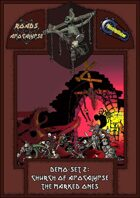 Roads of Apocalypse (4th ed.) - Demo-set 2: Church of Apocalypse. The marked ones