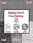 Stippling Dots and Cross-Hatching for Maps