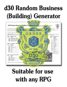 d30 Random Business (Building) Generator