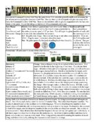 Command Combat: Civil War - 1 Sheet Rules & Scenario