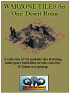 WARZONE TILES Set One: Desert Ruins
