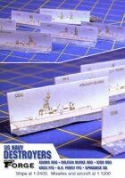 Modern US Navy Destroyers