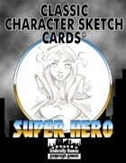 Classic Character Sketch Cards Set Two: Super Hero