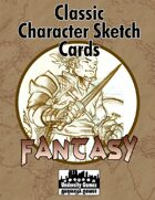 Classic Character Sketch Cards Set Four: Fantasy