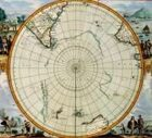 Antique Maps XVI - South Pole of the 1600's