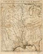 Antique Maps XXXII - Mississippi River Basin of the 1700s