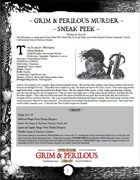 Grim & Perilous Murder (Early Access) - Supplement for Zweihander RPG
