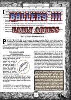 Ballers III (Early Access): Patron of Bloodblitz - Supplement for Zweihander RPG