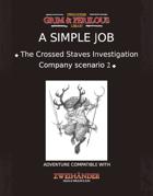 A Simple Job - Adventure for Zweihander RPG