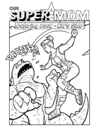 Our Super Mom - Coloring Book